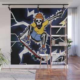 Wicked Electrocuted Skeleton Boy Wall Mural