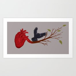 Crowing Heart Art Print