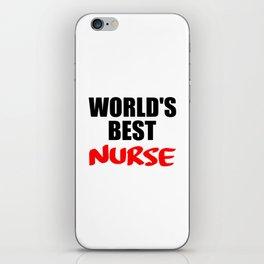 worlds best nurse iPhone Skin