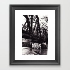Stencil under the Bridge Framed Art Print