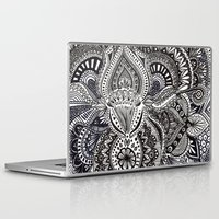 zentangle Laptop & iPad Skins featuring zentangle by paucarbajal