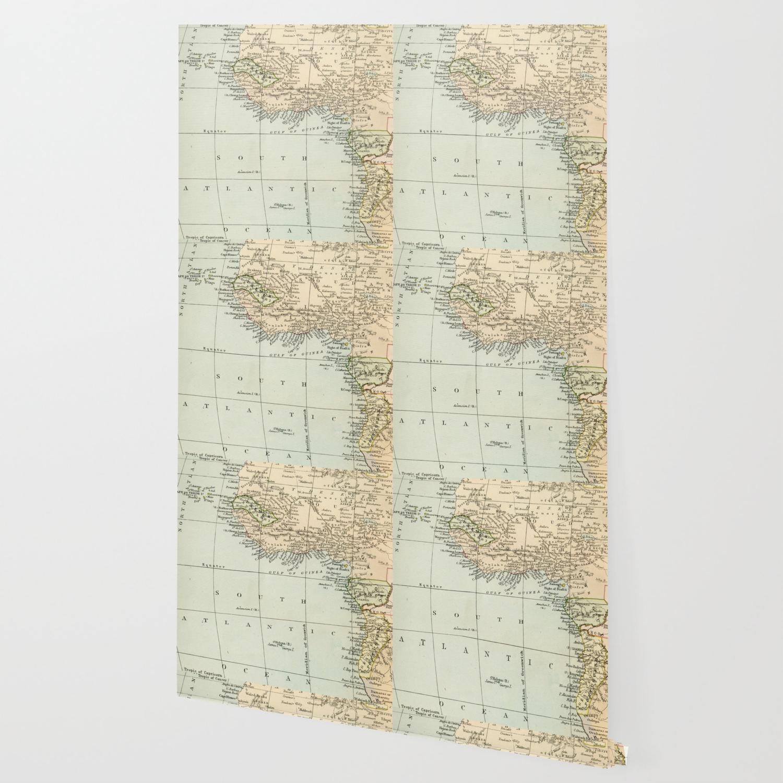 West & North Africa Vintage Map Wallpaper