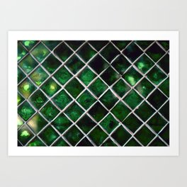 Emerald Pattern Art Print