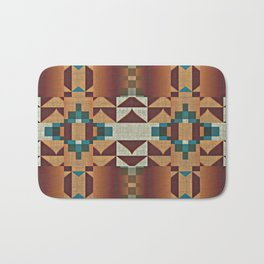 Native American Indian Tribal Mosaic Rustic Cabin Pattern Bath Mat