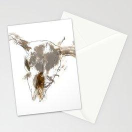 Steer Skull Stationery Cards