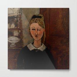 "Amedeo Modigliani ""The Pretty Housewife (La Jolie ménagère)"" Metal Print"