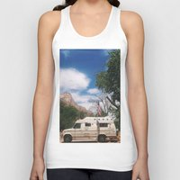 america Tank Tops featuring America by Lauren Ogard