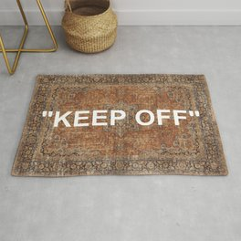 KEEP OFF - antique persian rug Rug