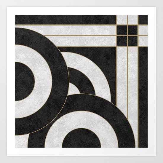 Geometric Marble 01 (abstract) Art Print
