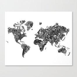 World Florals Canvas Print