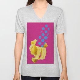 Banane mit Punkten Unisex V-Neck