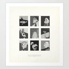 Super Mercredi Bros Heroes (6/8) Art Print