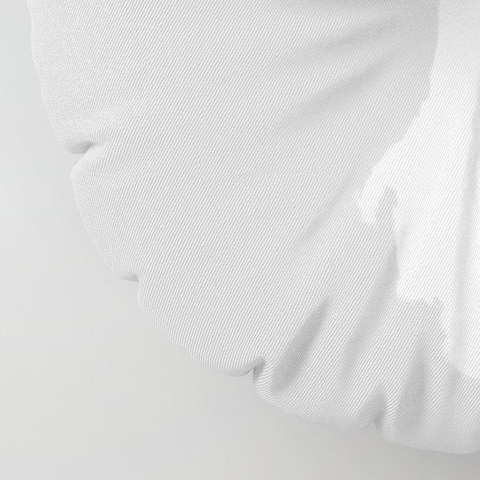 poodle white Floor Pillow