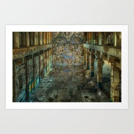 Apocalyptic Vision of the Sistine Chapel Rome 2020 Art Print