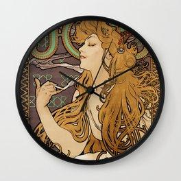 Job - Alphonse Mucha- 1896 Wall Clock