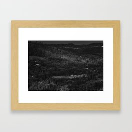 Hurricance ridge overlook Framed Art Print
