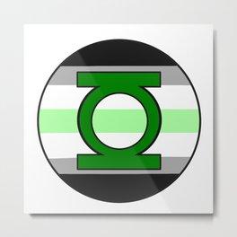 Agender lantern logo Metal Print