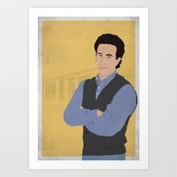 seinfeld Art Prints featuring Jerry Seinfeld // Seinfeld // Graphic Design by Dick Smith Designs