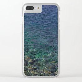Colorful Transparent Blue and Aqua Sea On Crete Clear iPhone Case