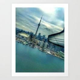 Toronto Skyline from Plane Art Print