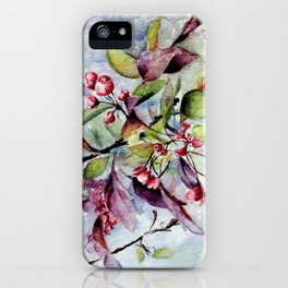 Branch With Blossoms Watercolor iPhone Case