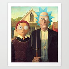Meanwhile in a parallel universe - Rick and Morty Art Print
