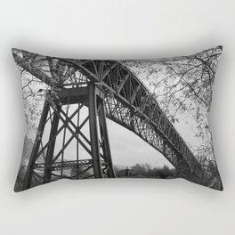 Eiffel. The mystery train bridge. BW Rectangular Pillow
