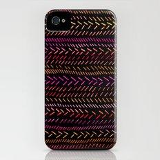 FUNKY RHYTHM - Collab Art with Sreetama Ray, Bright Bold Fun Pattern Collaboration Piece Slim Case iPhone (4, 4s)