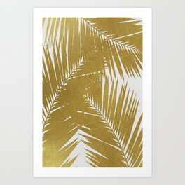 Palm Leaf Gold III Art Print