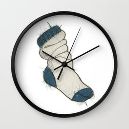 Fuzzy socks Wall Clock