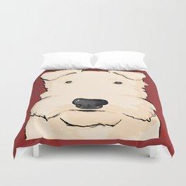 Terrier portrait red Duvet Cover