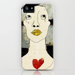 « l'amour comme un oiseau noir » iPhone Case