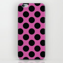 Pink with black dots iPhone Skin