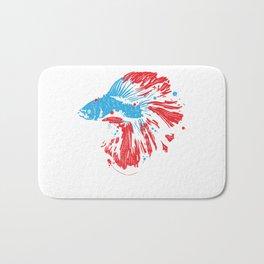 Betta Splendens T Shirt Bettas Siamese Fighting Fish Gift Bath Mat