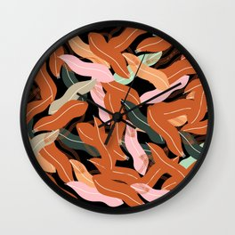 colourful leaves  Wall Clock