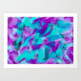 blue pink and purple painting texture abstract background Art Print