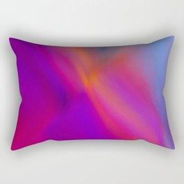 spire with mostly orange diagonal Rectangular Pillow