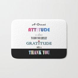 Gratitude ~ Xmas Spirit Quote Bath Mat