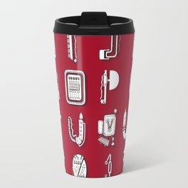 Machine Letters RED Travel Mug