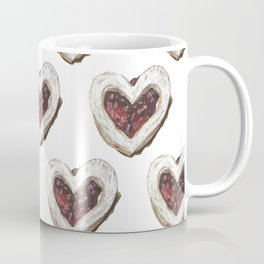 Valentine Heart Cookie Pattern Coffee Mug