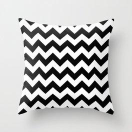 Chevron (Black/White) Throw Pillow