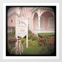The Pink House Art Print