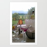 cocktails with a view Art Print