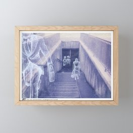 The city remembers; underground tunnel Framed Mini Art Print