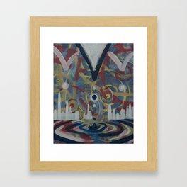 Radiating Waves Framed Art Print