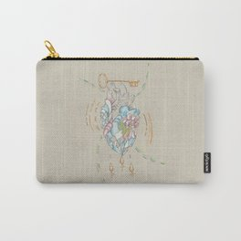 Treasured Heart // Pastel // Charcoal // 2 of 2 Carry-All Pouch