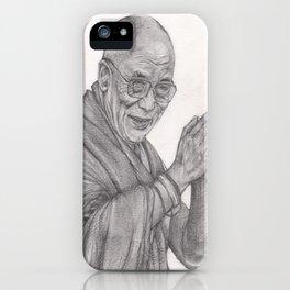Dalai Lama Tenzin Gyatso Drawing iPhone Case