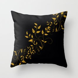 TREES VINES AND LEAVES OF GOLD Throw Pillow