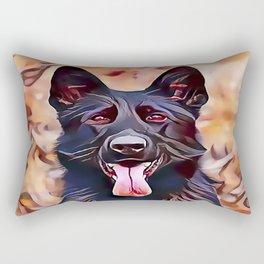 The Black German Shepherd Rectangular Pillow