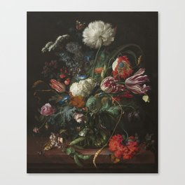 Jan Davidsz de Heem - Vase of Flowers (c.1660) Canvas Print